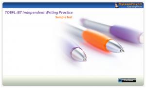 آزمون شبیه سازی شده TOEFL iBT Independent Writing