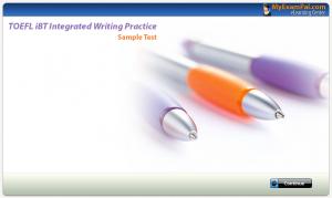 TOEFL iBT Integrated Writing Sample Test