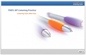 TOEFL iBT Listening Mini Test