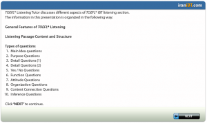 TOEFL iBT Listening Tutorials